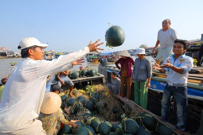 Make Reservation Mekong Waterway 2day trip This 2-day trip offers a glimpse into the agrarian life of the vibrant southern Delta region as we wind our way through the tributaries of the Mekong Delta. From our boats, we are able to closely observe the daily
